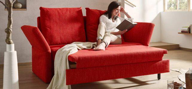 Auf dem Bild sehen Sie die Relaxfunktion des Schlafsofas Cassino